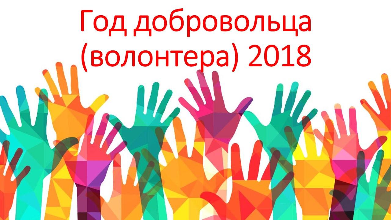 Год волонтерства 2018 в РФ